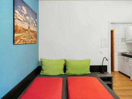 Deluxe City Apartments am Rhein mit Balkon, Anmeldung & Self-Check-In