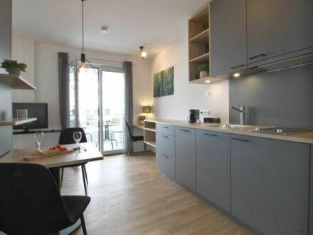Voll möbliertes Luxus-Apartment inkl. WLAN/TV, EBK, Fußbodenheizung, Parkett*Erstbezug*