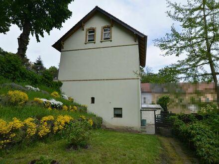 Städtisch wohnen mit eigener Idylle am Hang – Einfamilienhaus in Grimma