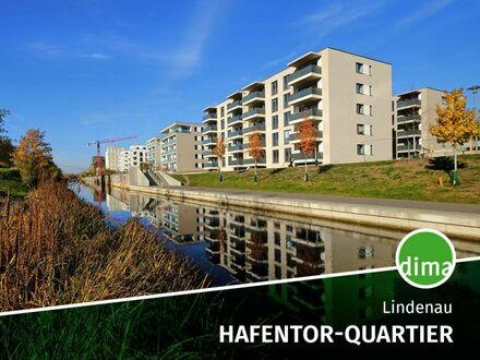 NEUBAU | HAFENTOR-QUARTIER | TG | Fußbodenheizung | Parkett | Gartenanteil | Balkon | HWR |