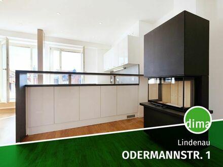 ERSTBEZUG | Kamin | hochw. EBK | Tageslichtbad + Gäste-WC | Loggia | Parkett | FBH | Aufzug | Keller