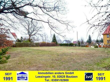 erschlossenes Baugrundstück in ruhiger Wohnlage - ca. 1,5 km südlich von Bautzen