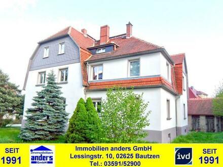Moderne 3-Raum-Dachgeschoss Wohnung mit gem. Wiesengrundstück nahe Bautzen