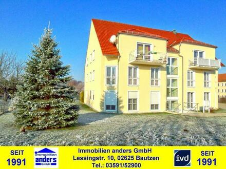 Moderne 2-Raum-Wohnung mit Balkon und PKW-Stellplatz - in sehr ruhiger Wohnlage - ca. 8 km östlich von Bautzen
