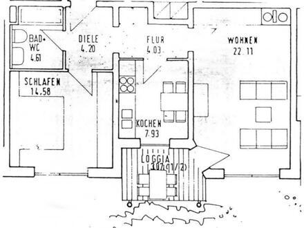 Schöne 2-Zimmer-Wohnung mit Balkon in bester Lage Weidens