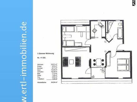 3-Zimmer-Dachgeschoss-Wohnung zu mieten