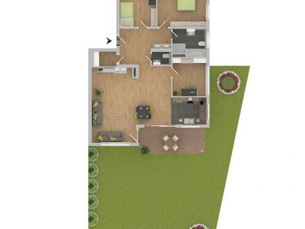 Großzügige 4-Zimmerwohnung mit Gartenanteil! [2]