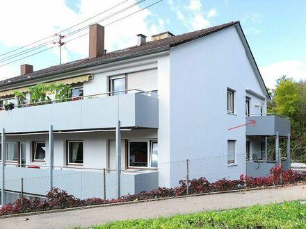 Blaustein helle 3-Zi.-DG-Wohnung mit EBK und 2 sonnigen Balkonen mit Aussicht!