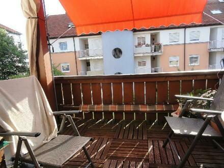 Burgau, 3-Zimmer-Dachgeschosswohnung mit Balkon