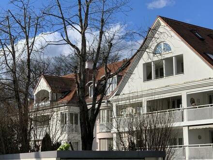 Wohnen am Isarhochufer! 3- Zimmer Wohlfühl-Wohnung mit schönem Garten in absolut ruhiger Wohnanlage Grünwald