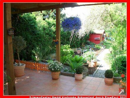Ruhige Oase wartet auf Umstyling; Nebengebäude, Schuppen und Garten in Liedolsheim zu verkaufen!