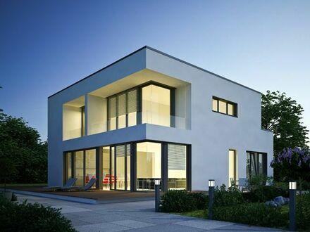 Eindrucksvolle Villa im Bauhausstil auf einem sonnigen Südgrundstück in Toplage von Gauting