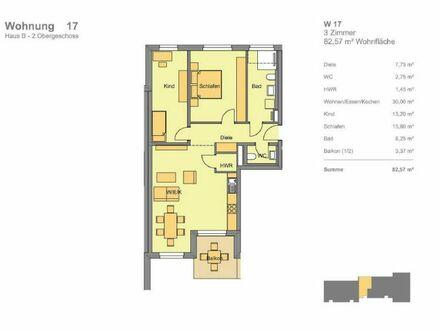 Hugo in Katzwang: Helle 3-Zimmer-Wohnung mit Balkon