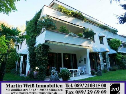 Penthouse mit umlaufender Dachterrasse in München-Solln Nähe Großhesselohe