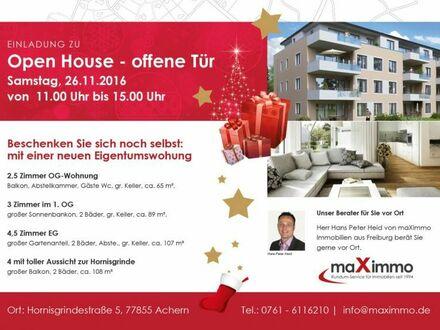 OPEN-HOUSE Smastag, den 26.11.2016 vom 11.00 bis 15.00 Uhr in Achern, Hornisgrindestrasse 7