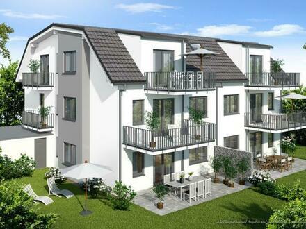 Rohbau fertiggestellt: 3-Zimmer-DG-Wohnung mit zwei Balkonen - KfW 55