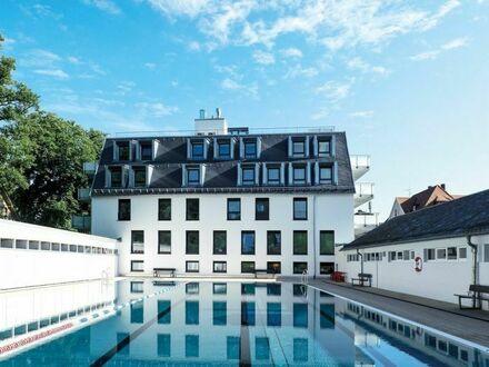 Gewerbliches Ferienapartment oder Büro mit riesiger Terrasse direkt am Lorettobad