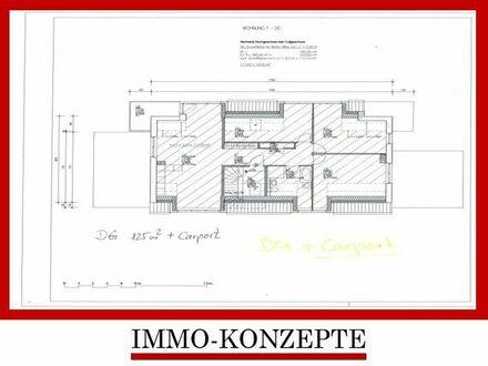 Schlossgarten: Exklusive Neubau-Wohnung im DG mit Carport + Balkon in 1A-Lage