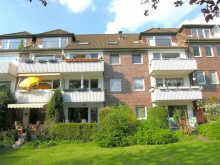 2-Zi.-Whng. 57 m² in HH-Bramfeld: Im 1. Obergeschoss mit Süd-Balkon Nähe Bramfelder See