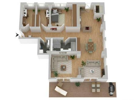 4-Zimmer-Wohnung mit Terrasse - Neubau/Erstbezug