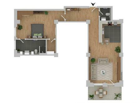 2-Zimmer-Wohnung mit Balkon - Erstbezug