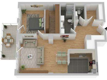 Rendsburger Speicherviertel: barrierearme 2-Zimmer-Wohnung mit Balkon