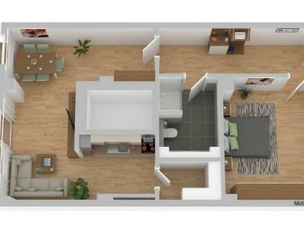 großzügige 2-Zimmer-Wohnung mit großer Terrasse