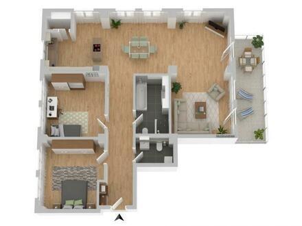 3-Zimmer-Wohnung mit Balkon - Neubau/Erstbezug