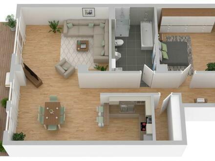 2-Zimmer-Wohnung mit eigenem Eingang