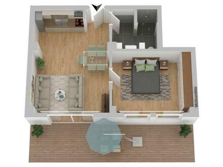 2-Zimmer mit Terrasse