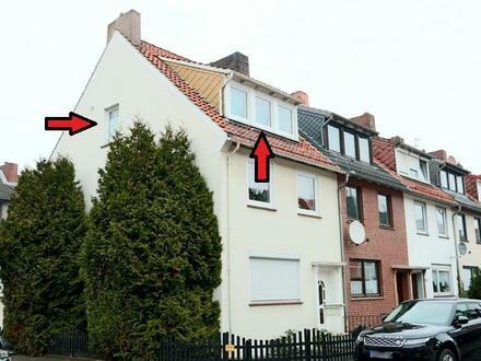 Süße Dachgeschosswohnung im Reihenendhaus - Nahe Überseestadt!
