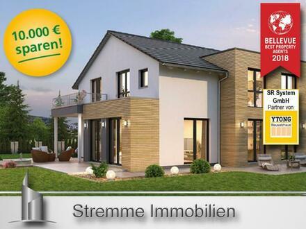 Individuelles Traumhaus mit zwei gleichwertigen Wohneinheiten - Neubau - massiv