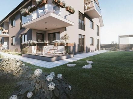 Neubau - 8 Wohneinheiten, 4 ZKB OG-Wohnung mit Balkon, Personenaufzug und Carport in Bellheim