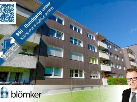 Blömker! Gepflegte 3,5 Raum Wohnung mit Balkon und Stellplatz in GE-Erle.