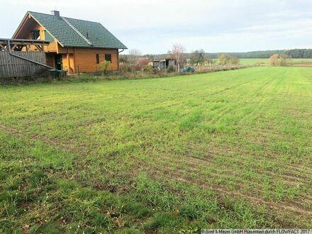 Baugrundstück mit direkt angrenzender landwirtschaftlicher Fläche (z.B. zur Pferdehaltung)