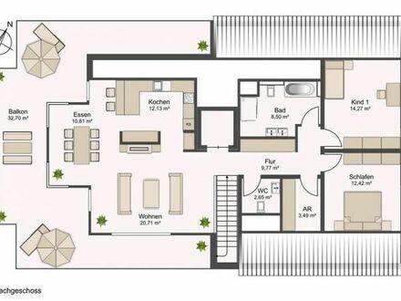 Exclusives Neubau-Penthaus mit großer Dachterrasse in Bielefeld-Senne