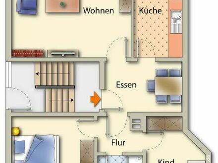 Attraktive Wohnung mit Balkon und Garten in Unna