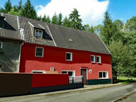 sanierte, gepflegte 1-2 Familien-Doppelhaushälfte, ehem. Gaststätte zum Wohnhaus umbaubar in herrlicher Lage im Naturschutzgebiet