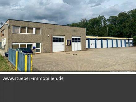 Gewerbehalle mit Büro, 5 Garagen, 2 Überseecontainer zu verkaufen