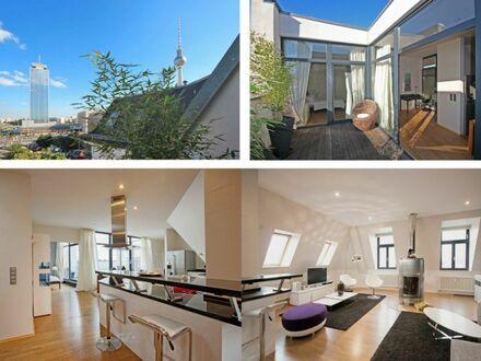 Traumhaftes Penthouse in Toplage Berlin-Mitte **Dachterrasse**Klimaanlage**exklusive Ausstattung**