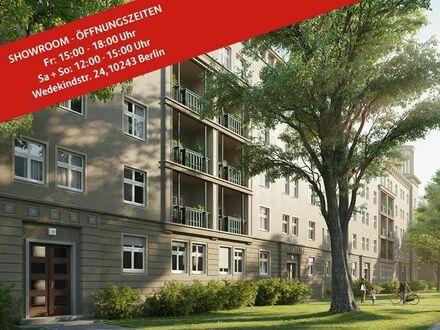2-Zimmer-Wohnung mit Balkon in Bestlage in Friedrichshain, ca. 58 m². Sofort bezugsfrei!