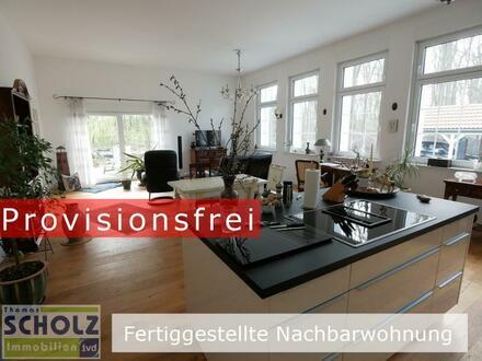 Fast eine DHH! ERSTBEZUG Traum-Maisonette-Wohnung m. 400m² Garten im Grünen an der Stadtgrenze