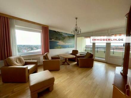 IMMOBERLIN.DE - Ideal besonnt in gefragter Lage! Komfortable Wohnung mit großer Westloggia für den Weitblick