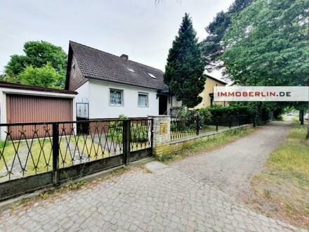 IMMOBERLIN.DE - Toplage im Hermsdorfer Ortskern! Einfamilienhaus mit Einliegerwohnung & Südgarten