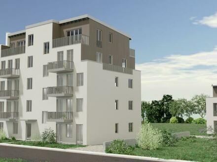 Hübsche, sehr helle Wohnung mit zwei Balkonen im Rahmen einer Baugruppe