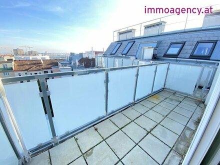 Maisonette Wohnung, Dachgeschoß auf zwei Ebene mit Terrasse