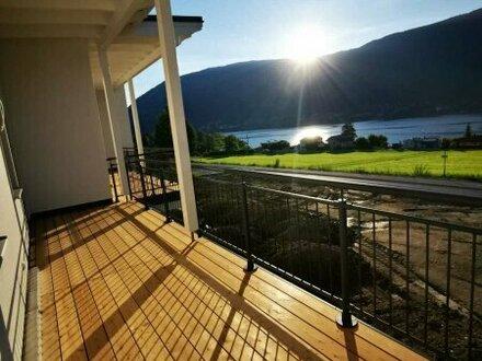 Neubau mit Seeblick, Terrasse und Garten am Ossiacher See