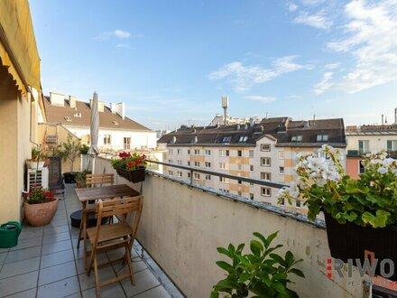 Leben am Augarten - Dachgeschosstraum mit großzügigem Balkon und Weitblick - Nähe U2 Taborstraße
