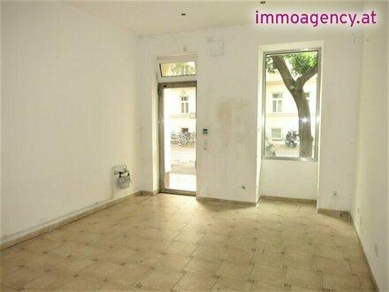 Einzelhandel ca 30m2 - gemauerte Dusche/WC/Teeküche- Keine Gastro !!