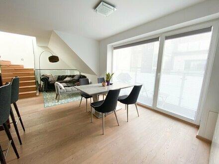 Dachgeschosswohnung auf drei Ebenen mit zwei Balkonen und einer Dachterrasse nähe Naschmarkt zu verkaufen!